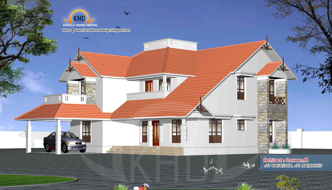 Elegant Indian Home 3d Elevation Part 23