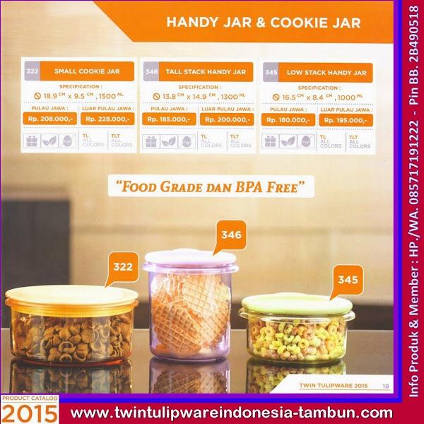 Small Cookie Jar, Tall Stack Handy Jar, Low Stack Handy Jar