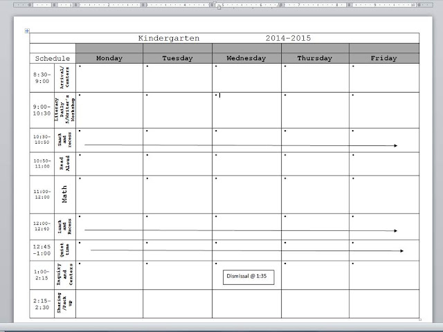 Pacing Calendar