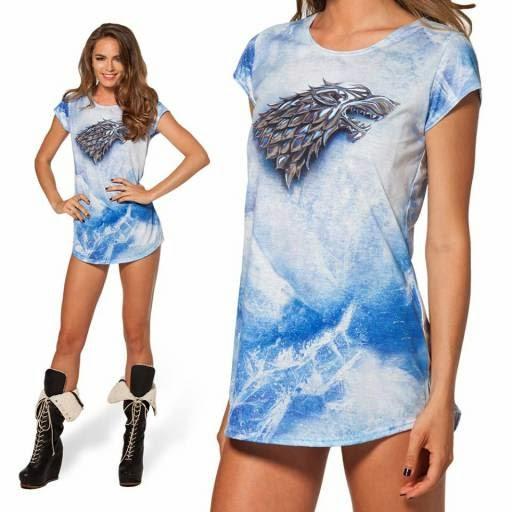 Camiseta Stark Black Milk Clothing foto - Juego de Tronos en los siete reinos
