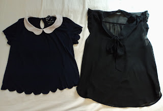 Primark Peter Pan Collar Top and Pussy Bow Top