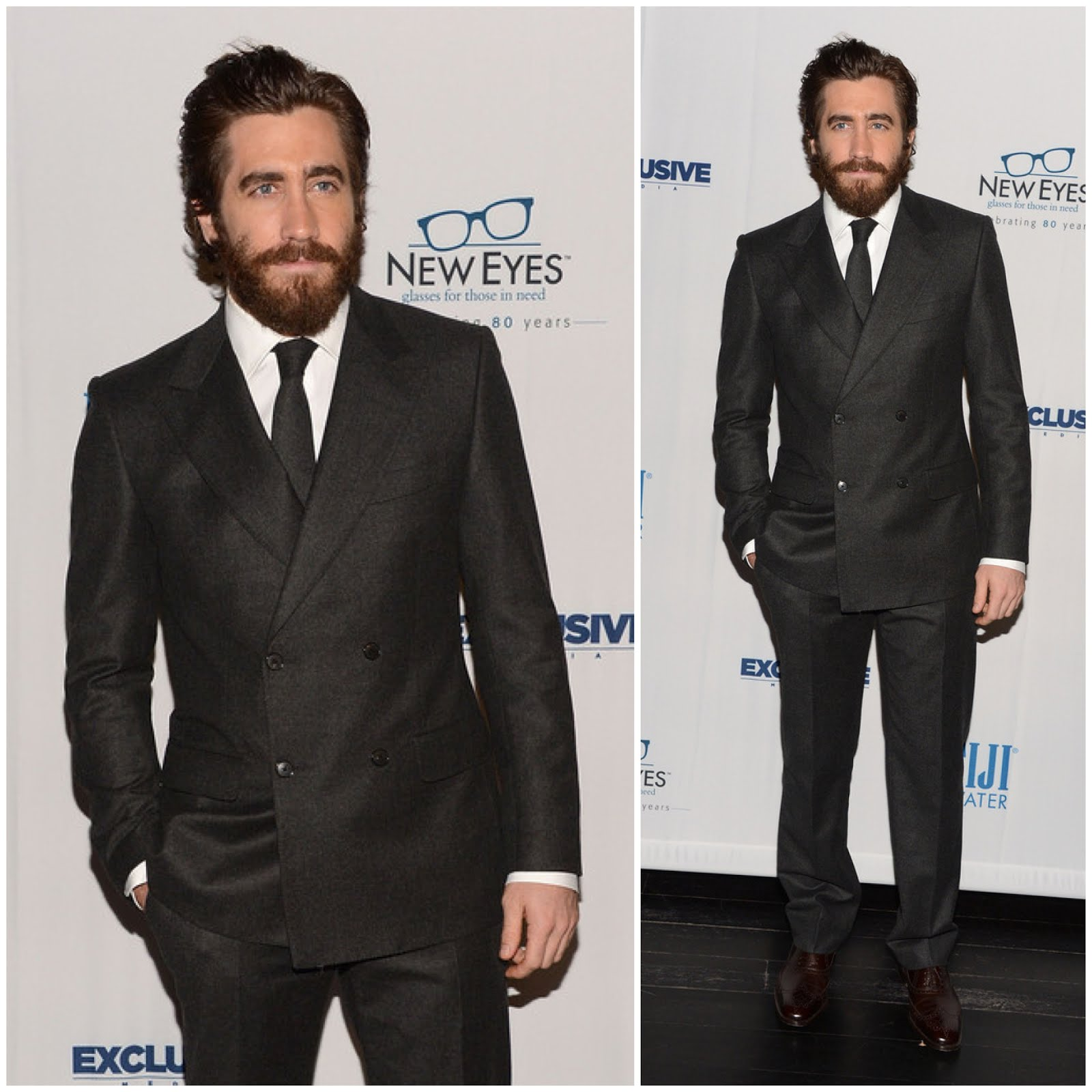 00O00 London Menswear Blog Celebrity Style Jake Gyllenhaal in Salvatore Ferragamo - New Eyes for the Needy 80th Anniversary Gala
