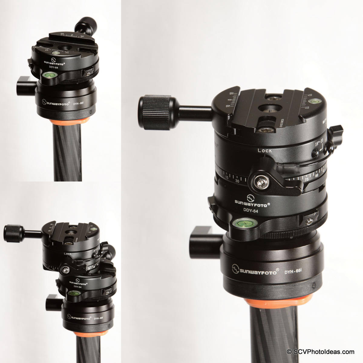 Sunwayfoto DDP-64SX+DDY-64 on DYH-66i+DDY-64 mounting sequence