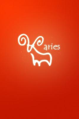 Figura con Fondo Rojo - Aries