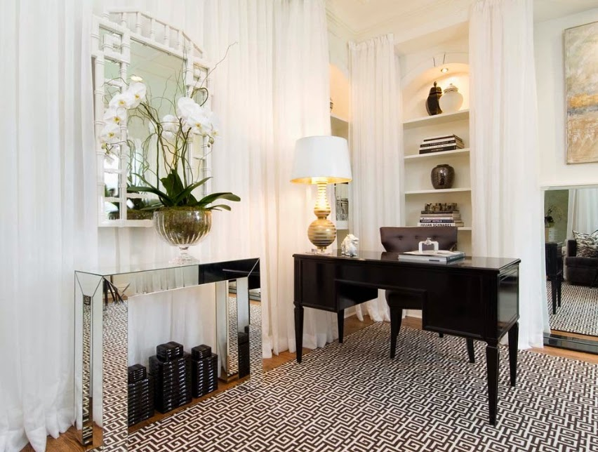 Chic Office Decor Delectable With Contemporary Home Office Design Images