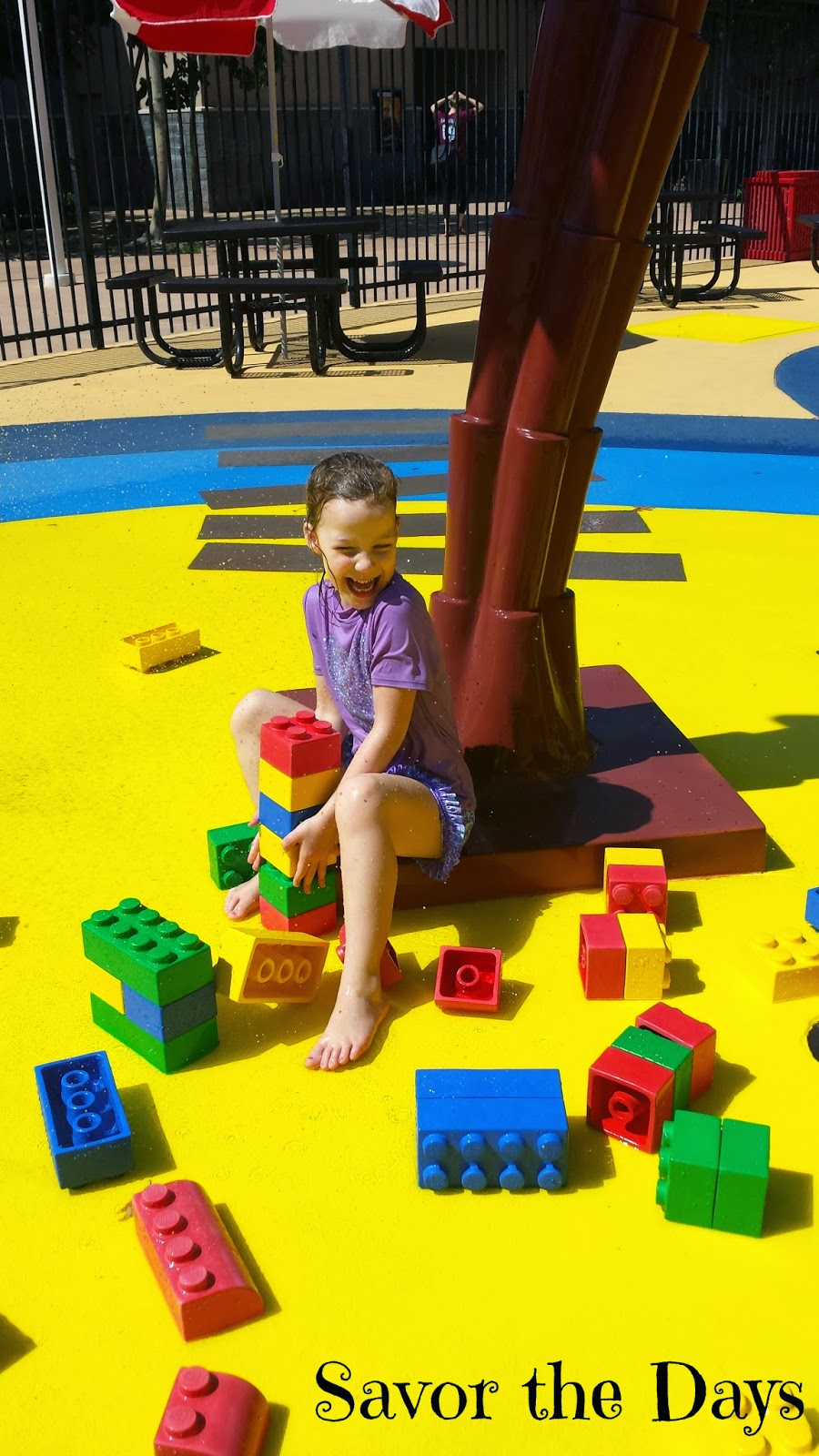 Giant Legos at Pirate Beach at Legoland Discovery Center in Grapevine