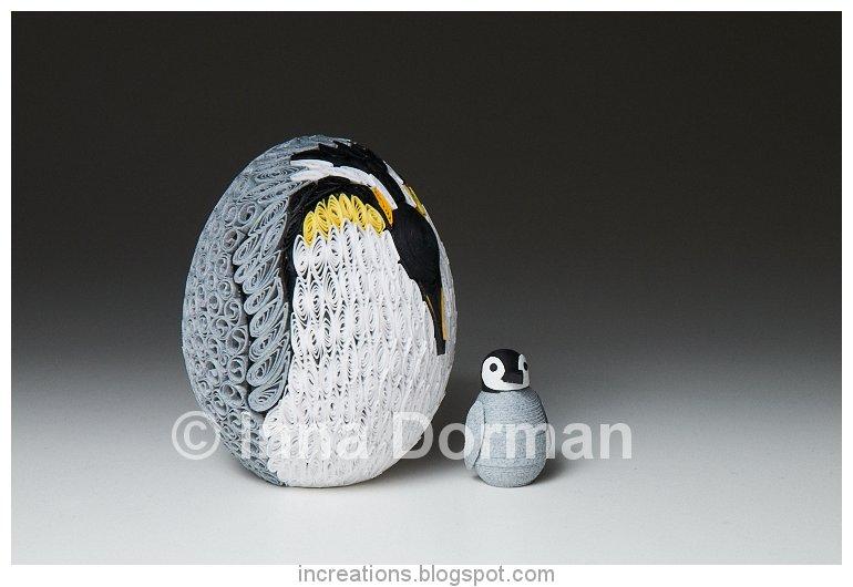 Inna's Creations: Penguin Easter Egg - Quilling
