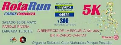 5k RotaRun benéficos en el parque Rivera (Montevideo, 30/may/2015)