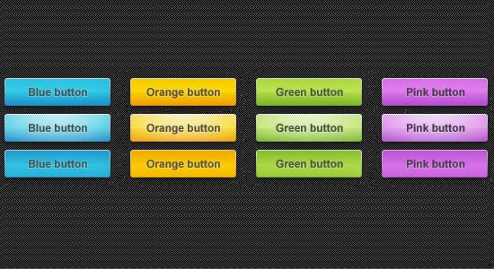 5 Colorful Web Buttons