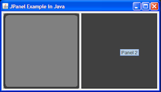 JPanel in Swing Example Screenshot