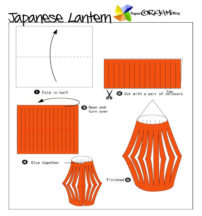star festivel origami japanese lantern paper origami guide