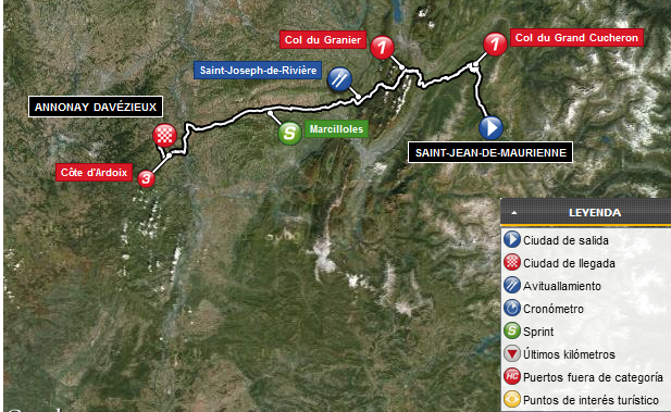 Tour de Francia 2012: Mapa Etapa 12