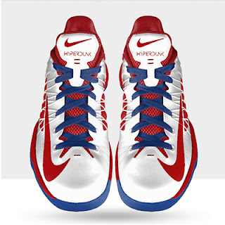 Nike Hyperdunk Low Custom Shoes Red  Blue White