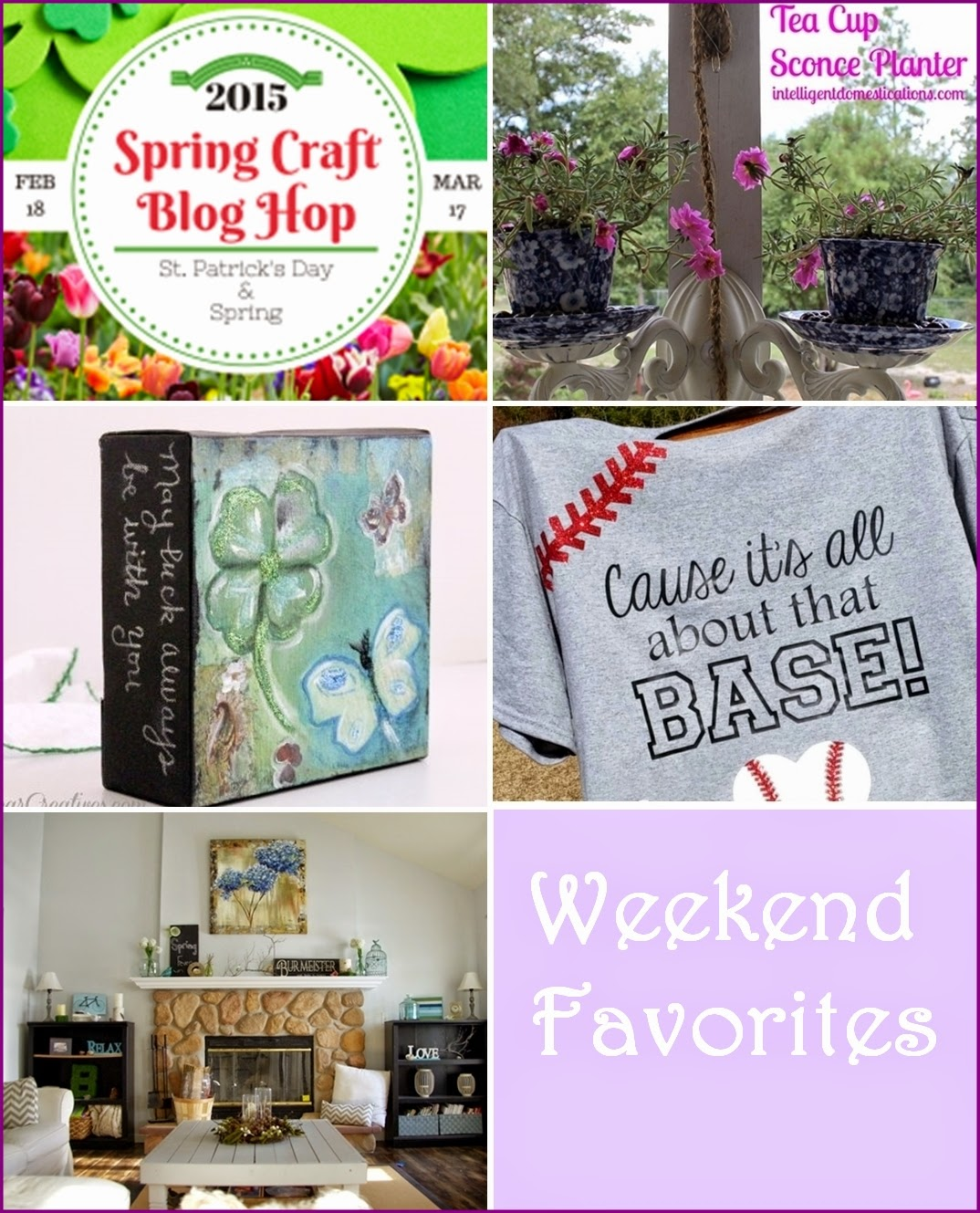 SPRING CRAFT BLOG HOP WEEKEND FAVORITES