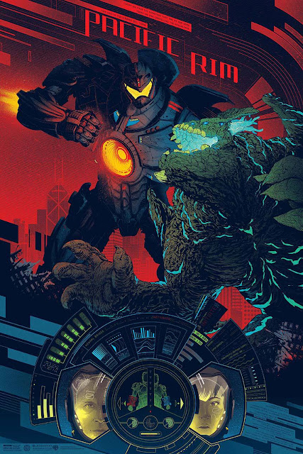 San Diego Comic-Con 2013 Exclusive Pacific Rim Standard Edition Screen Print by Kevin Tong