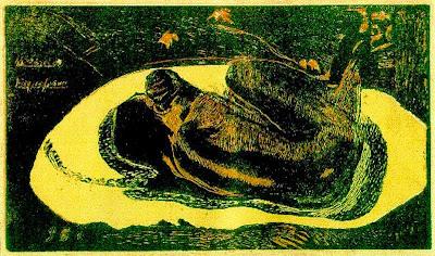 Ella pensa en el fantasma (Paul Gauguin)