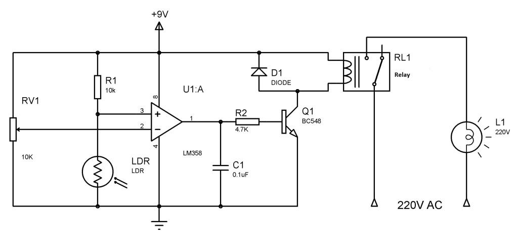 elektronika industri  membuat lampu taman otomatis dengan