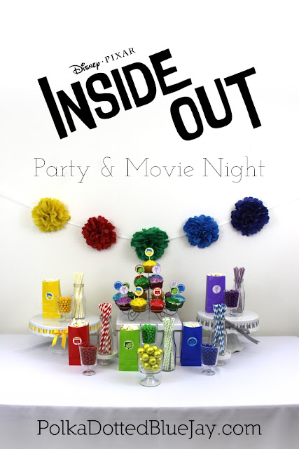 Creating the perfect Disney and Pixar INSIDE OUT Themed Party is easy when you use rainbow elements and keep a simple color palette. Use your emotions when you create this rainbow tablescape and party decorations! Perfect for an Inside Out slumber party and movie night! #InsideOutMovieNight #ad #CollectiveBias
