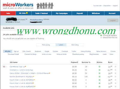 Microworkers Dashboard