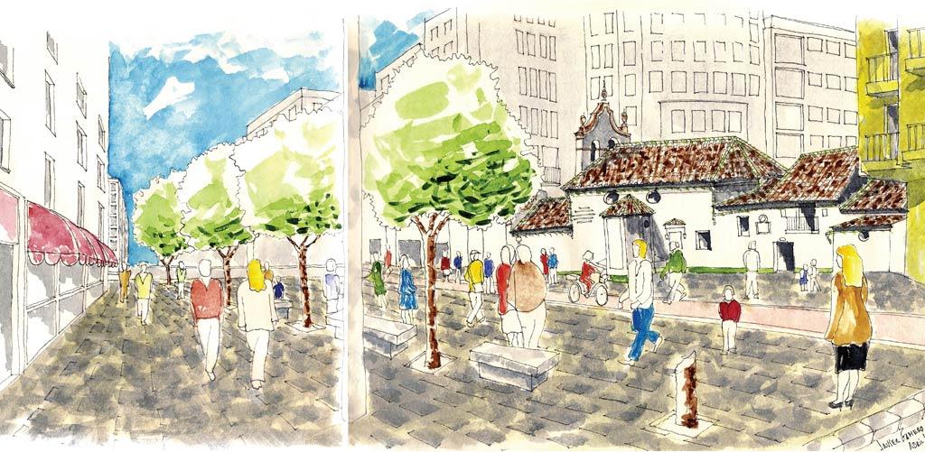 Proyecto de Plaza Publica y aparcamientos Zamarrilla. Javier Gamero Arquitecto y Asociados.