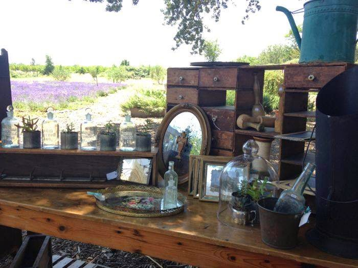 The Pickled Hutch booth Lavender fields Soul Food Farms Antique Market