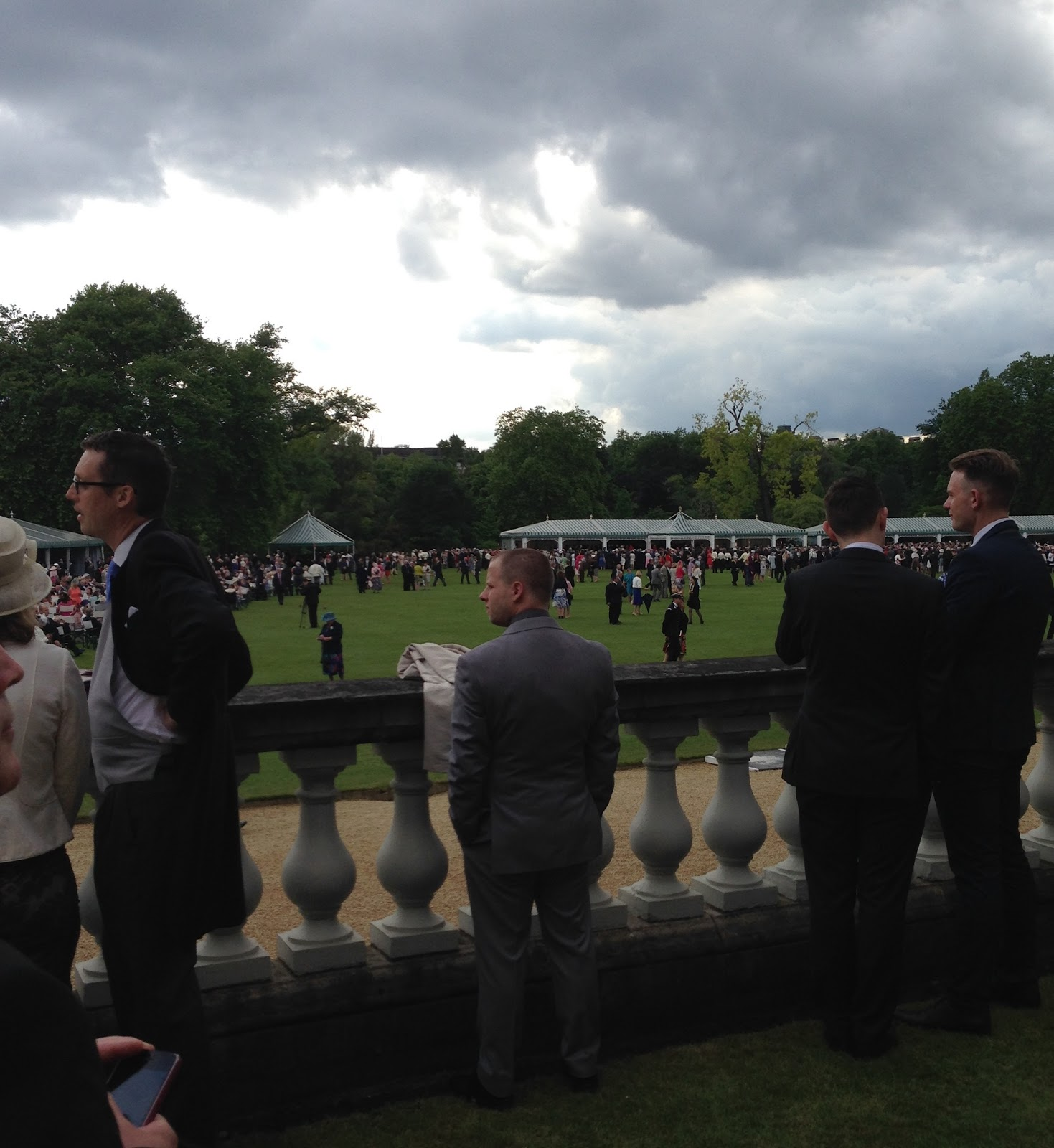 Storm clouds over Buckingham Palace