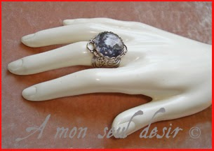 Bague Lune Hécate Séléné Loup Garou Full Moon Werewolf Finger Silver Ring Moonlight Shadow