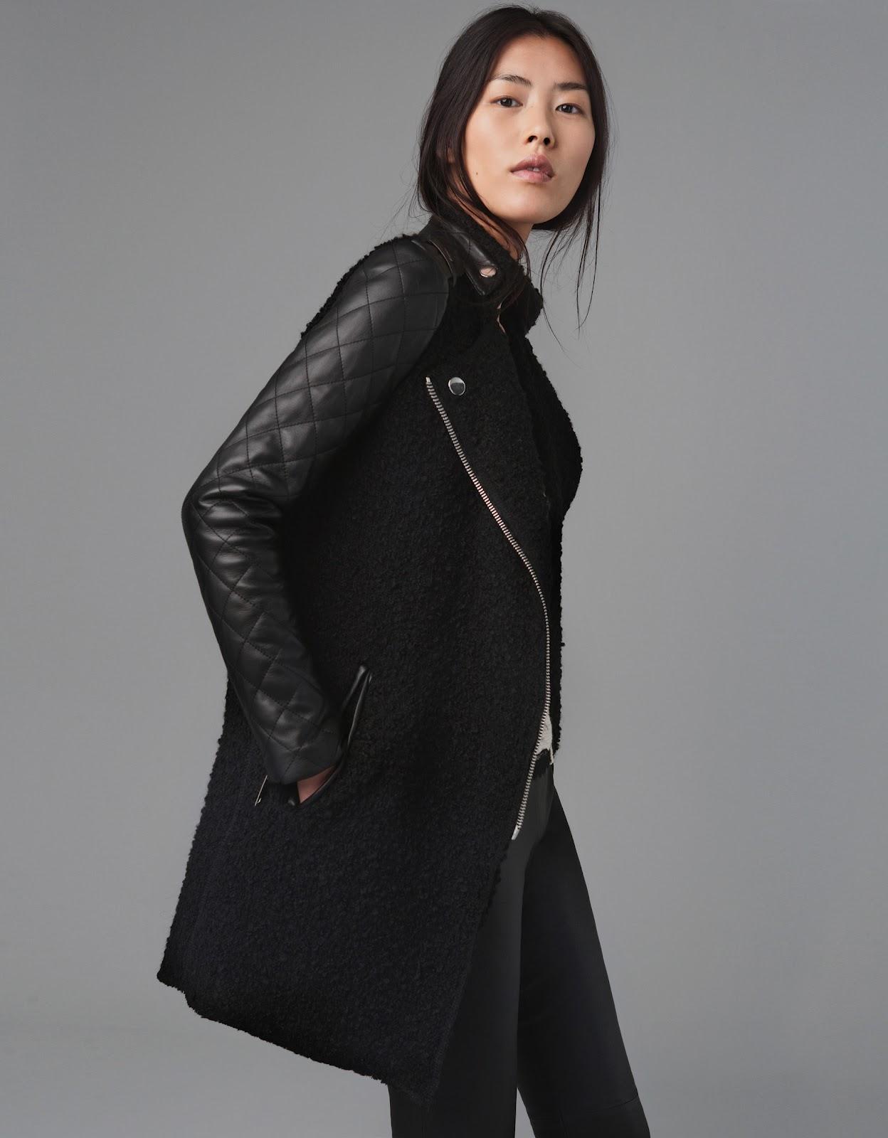 Leather Sleeved Jacket