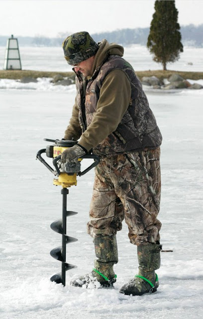 Auger ice fishing auger tool image for Ice fishing augers