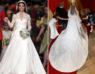 Wedding Dresses With Lace Sleeves The Kate Middleton Wedding Dress