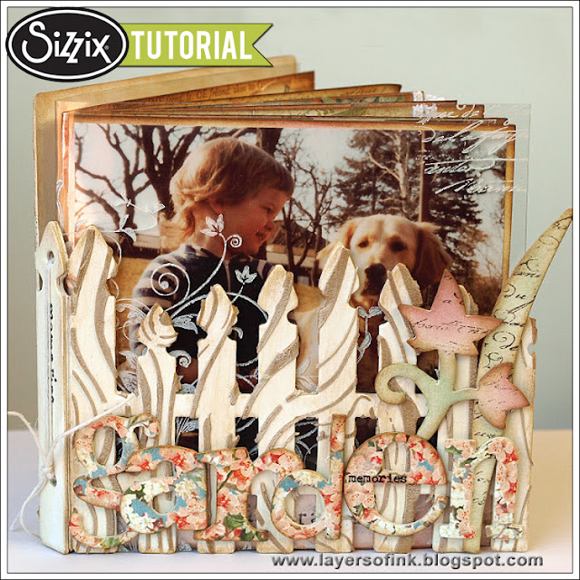 Sizzix Die Cutting Tutorial: Garden Memories Book By Anna-Karin Evaldsson