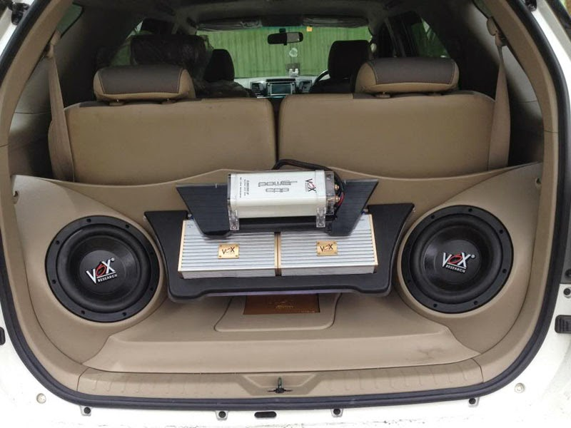 modifikasi audio mobil toyota fortuner