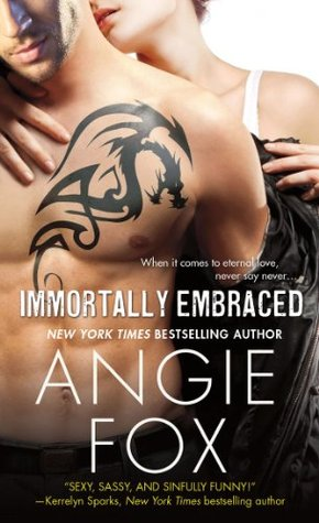 Angie Fox, Immortally Embraced, cover, paranormal romance