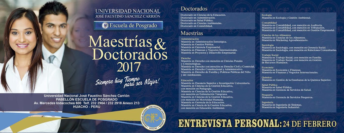 MAESTRIAS Y DOCTORADOS 2017