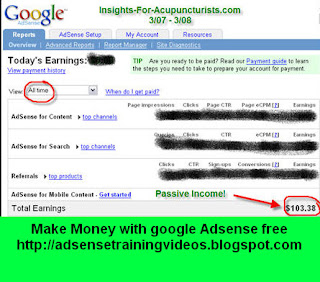 Own your own business Working from home - Google Adsense