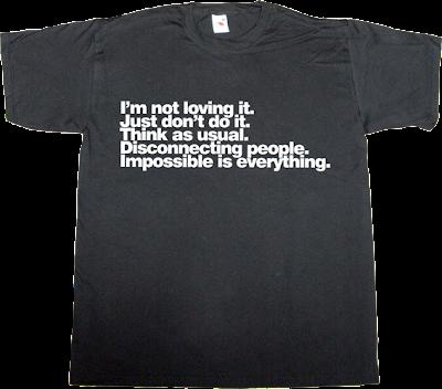 mcdonald's nike apple nokia adidas t-shirt ephemeral-t-shirts
