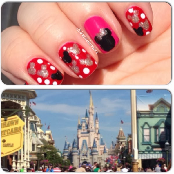 disney mickey mouse and minnie mouse nails