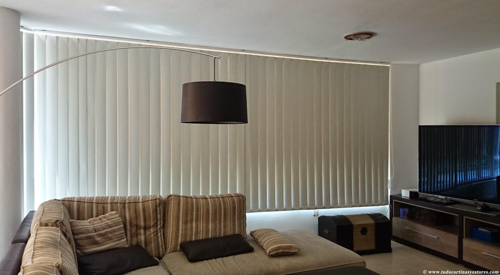 Decoracion interior cortinas verticales estores for Cortinas espana