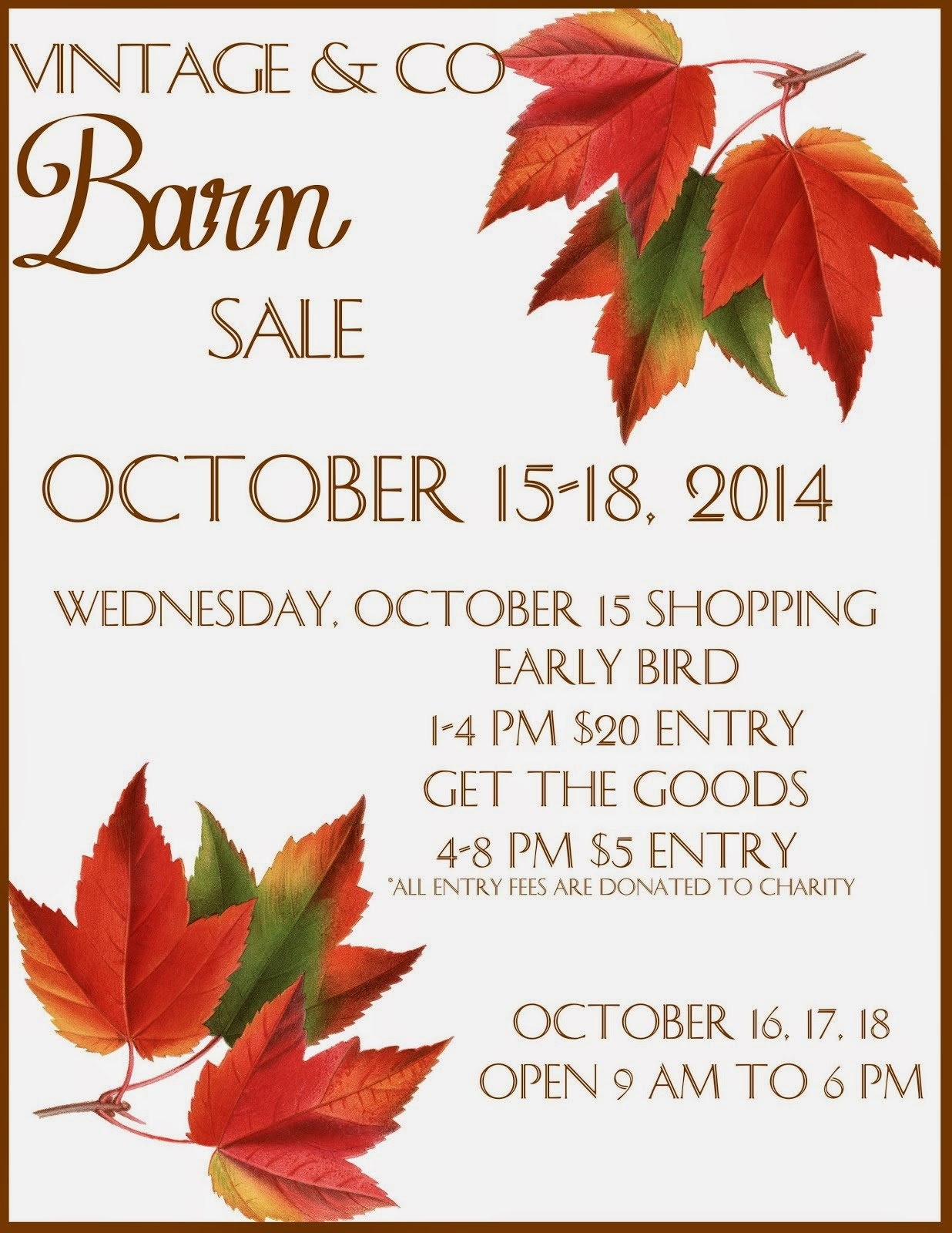 ~ Fall Sale Dates ~