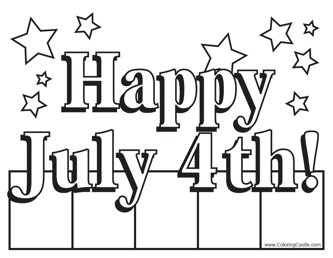 Coloring activity pages for 4th of july color pages