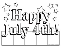 4 Of July Coloring Pages