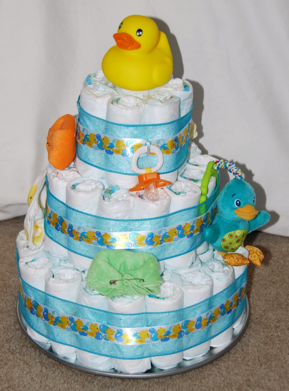 All Things Crafty!: Diaper Cake!