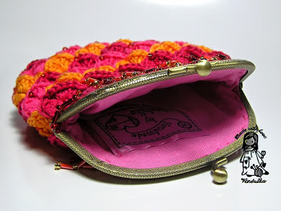 Crocodile stitch evening purse, crochet purse, chrochet evening purse, crocodile stitch purse,