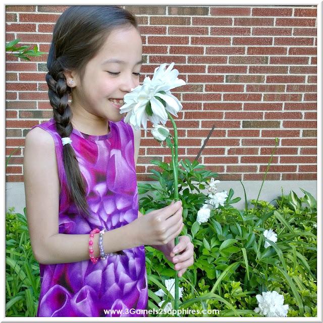 KidCuteture Fiona Rosebud Dress for Girls     www.3Garnets2Sapphires.com