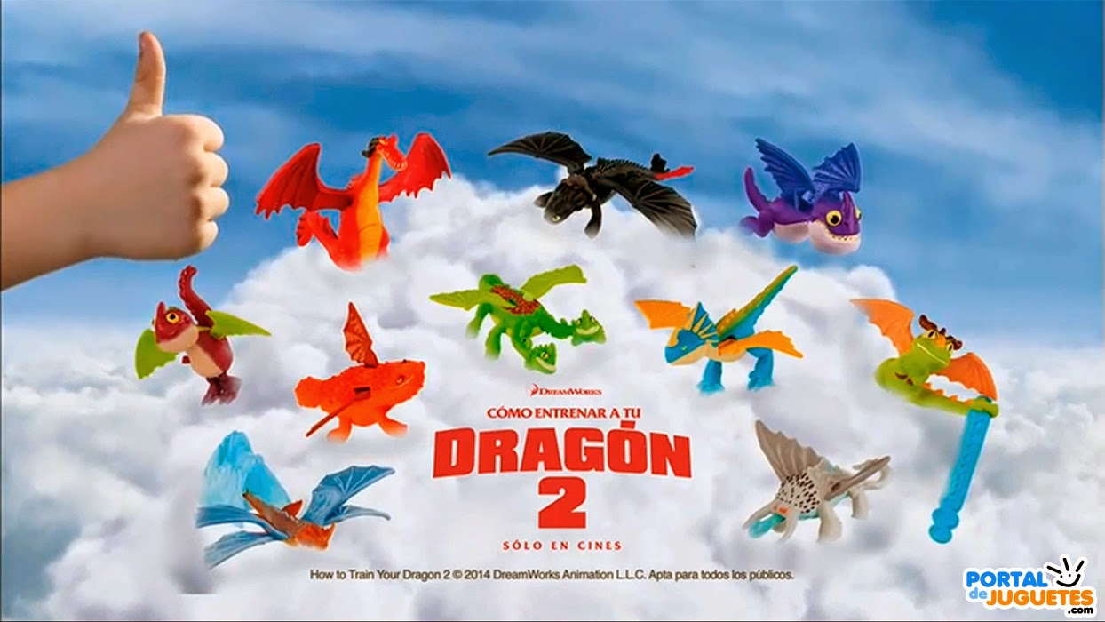 juguetes como entranar a tu dragon 2 Happy Meal McDonalds