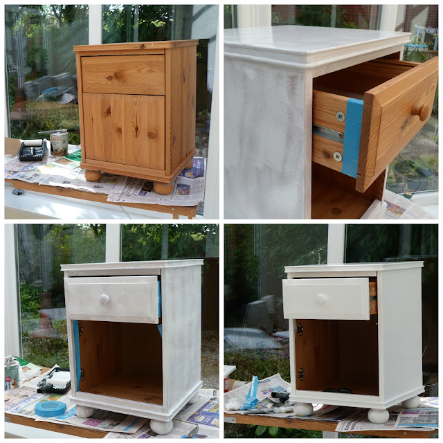 Painting the bedside cabinets