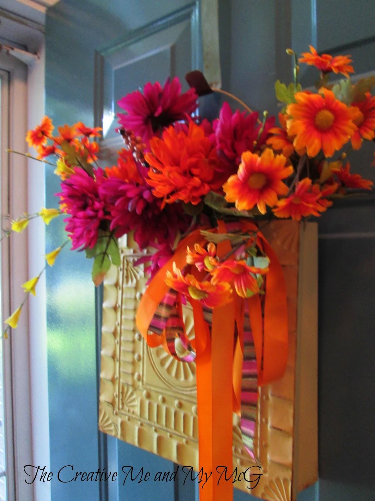 Autumn Door Decorations Orange Door : The creative me and my mcg fall door decor