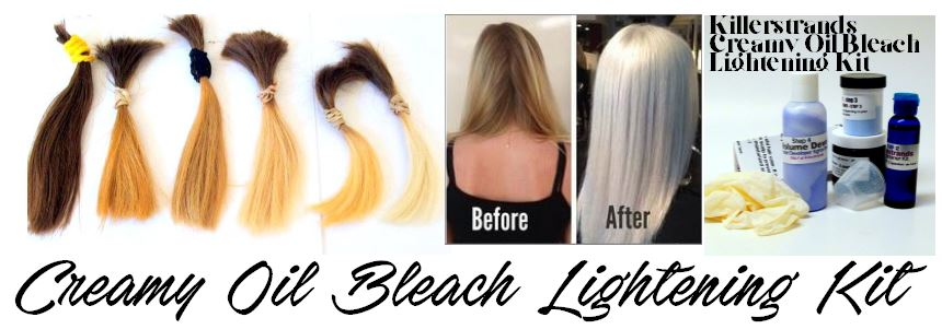 Creamy Oil Bleach Lightening Kit by Killerstrands Hair