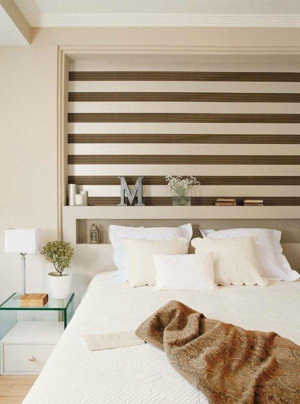 Deco viste tus paredes con papel pintado de rayas - Papel pintado rayas horizontales ...