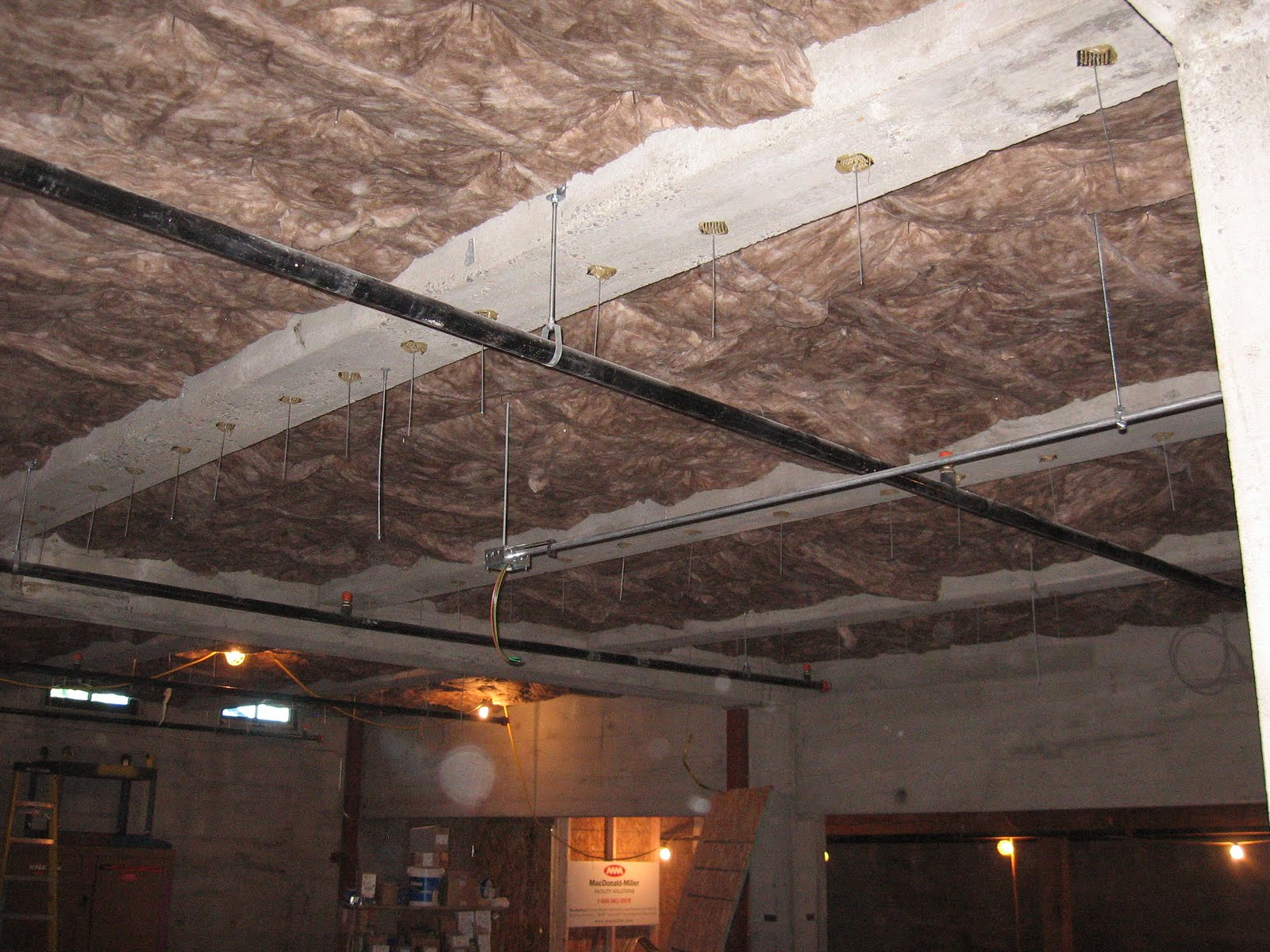 insulation install on basement ceiling